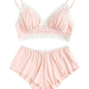 2 piece Lingerie Pink Lacey